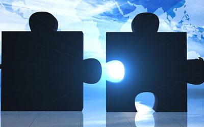 image of companies merging